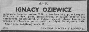 Oziewicz nekrolog od Maczka